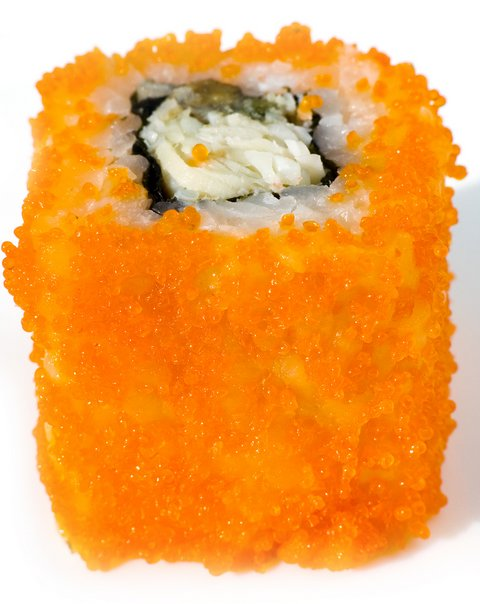 Orange Tobikko Caviar, Japanese Food, Sushi Caviar